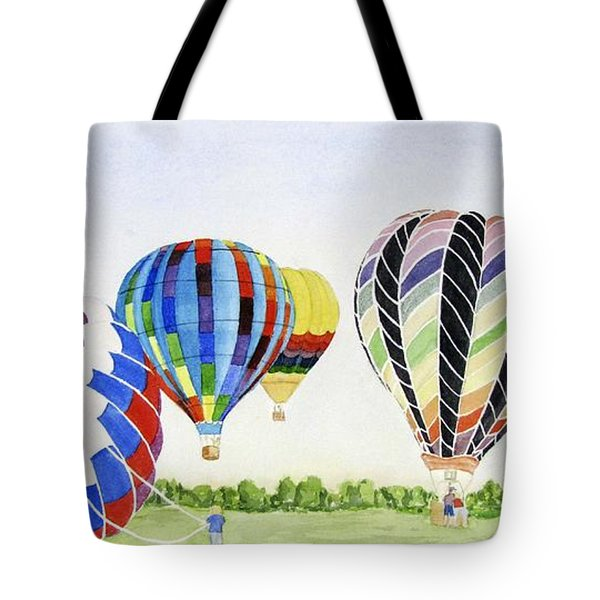 Tote Bag featuring the painting Balloons by Carol Flagg