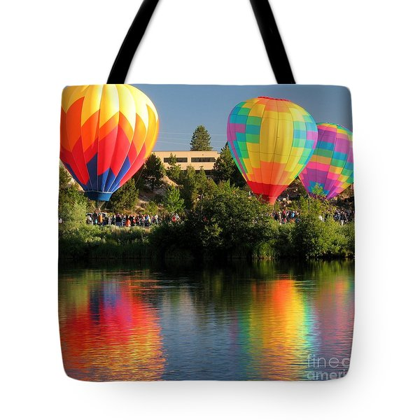 Tote Bag featuring the photograph Balloons Over Bend Oregon by Kevin Desrosiers