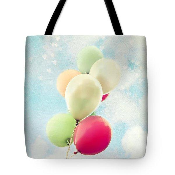 Balloons Tote Bag by Sylvia Cook