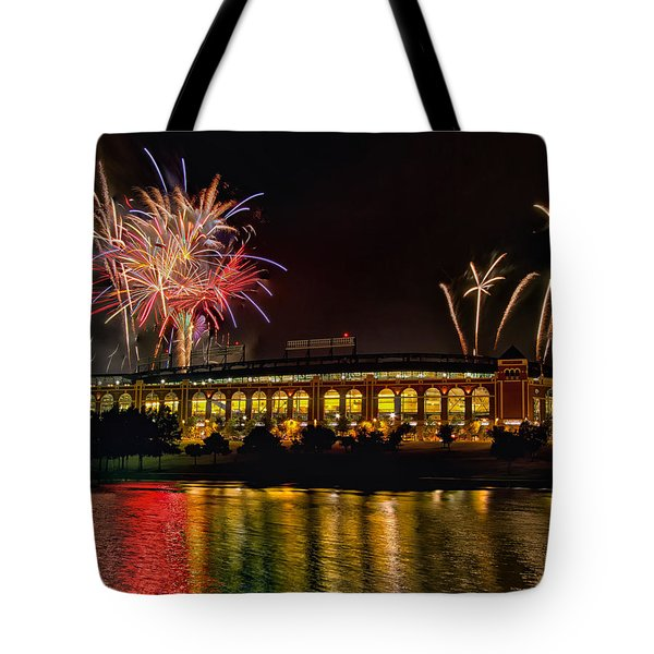 Ballpark Fireworks Tote Bag