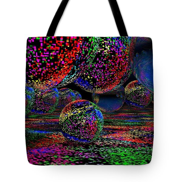 Tote Bag featuring the digital art Balls1 by Mark Blauhoefer