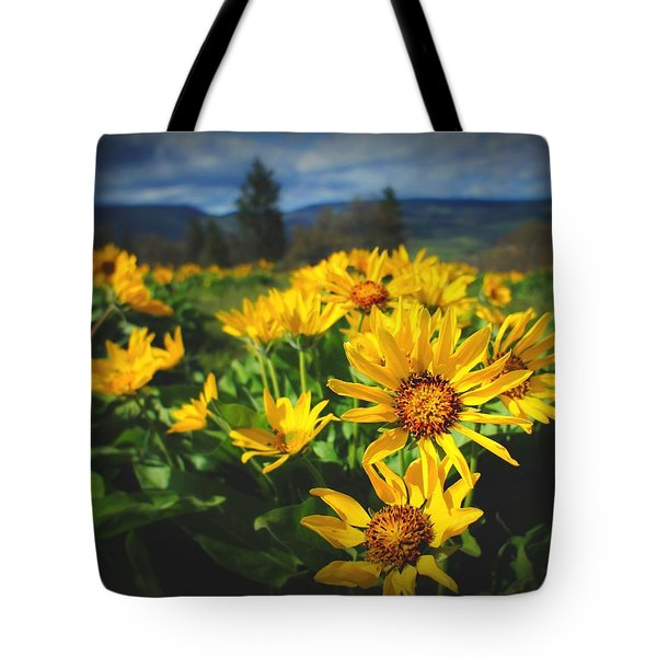 Balsamroot Of The Gorge Tote Bag