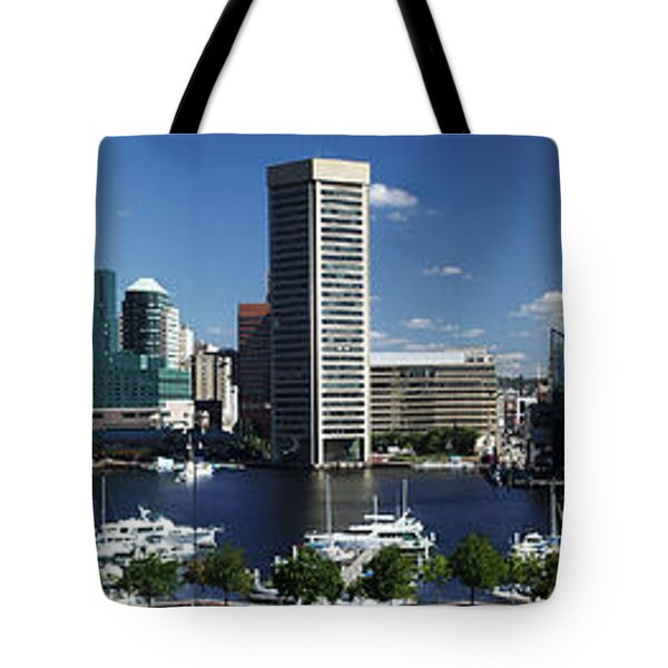 Baltimore Inner Harbor Panorama Tote Bag