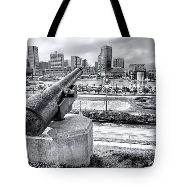 Baltimore Inner Harbor Skyline Tote Bag