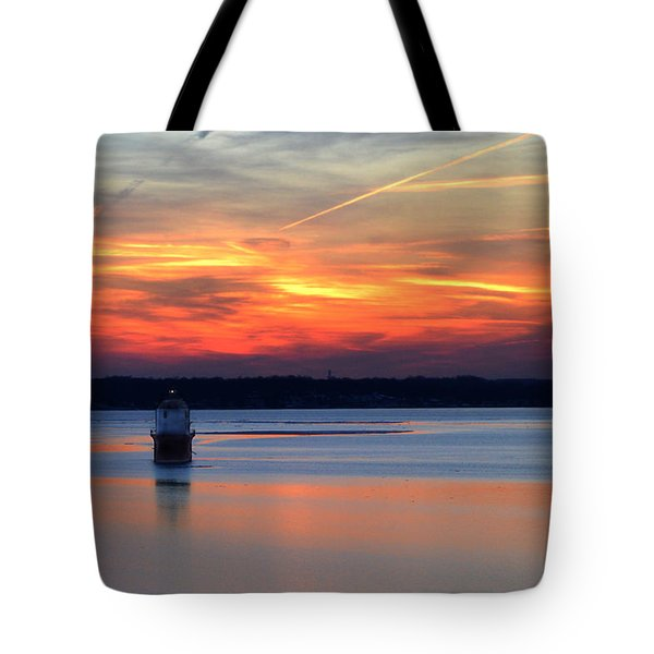 Baltimore Light At Gibson Island Tote Bag by Bill Swartwout
