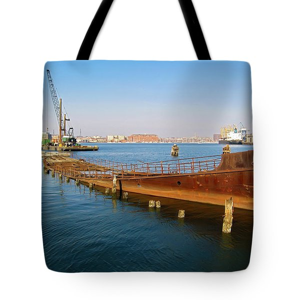 Tote Bag featuring the photograph Baltimore Museum Of Industry by Brian Wallace