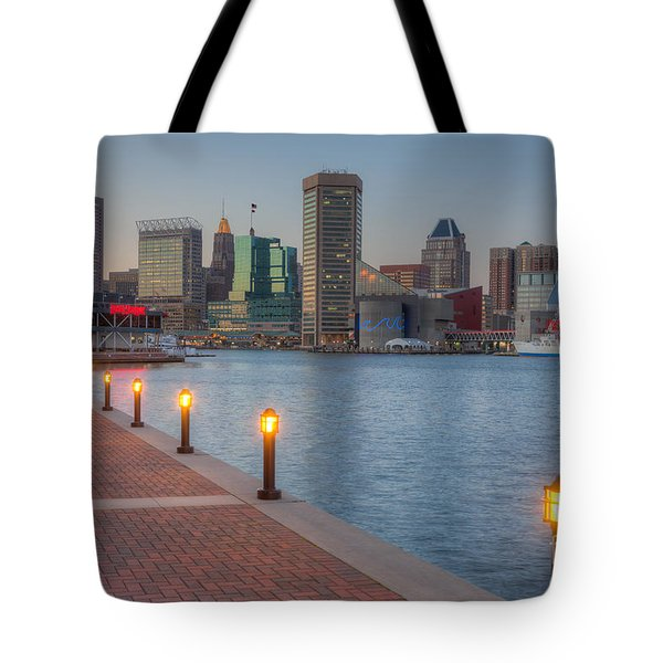 Baltimore Skyline At Twilight I Tote Bag