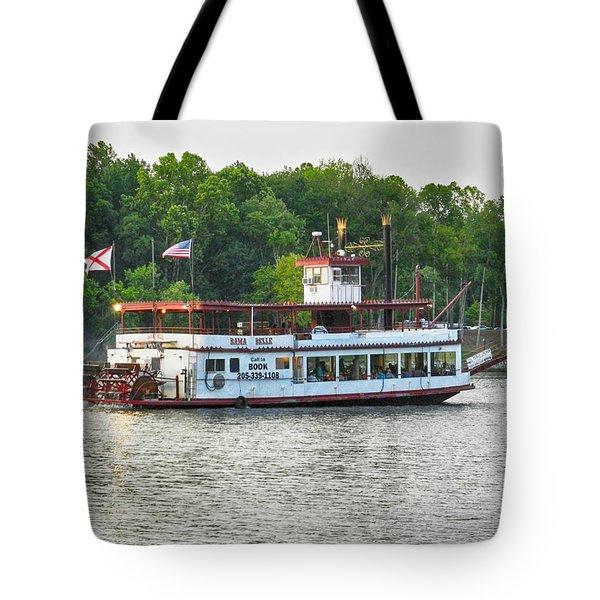 Bama Belle On The Black Warrior River Tote Bag