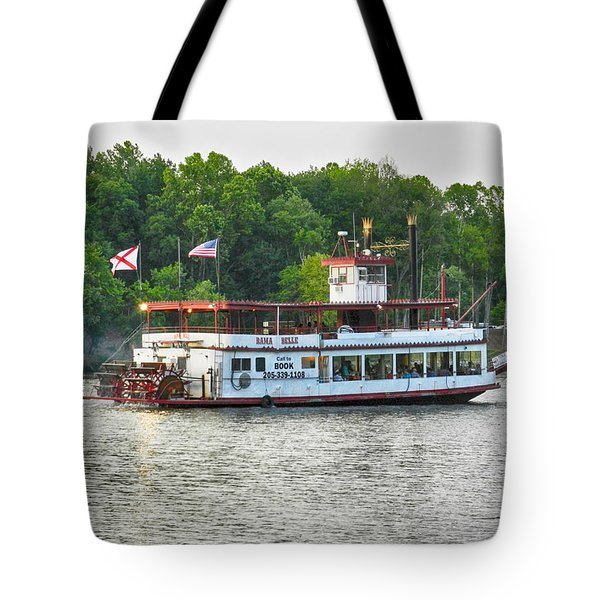 Bama Belle On The Black Warrior River Tote Bag