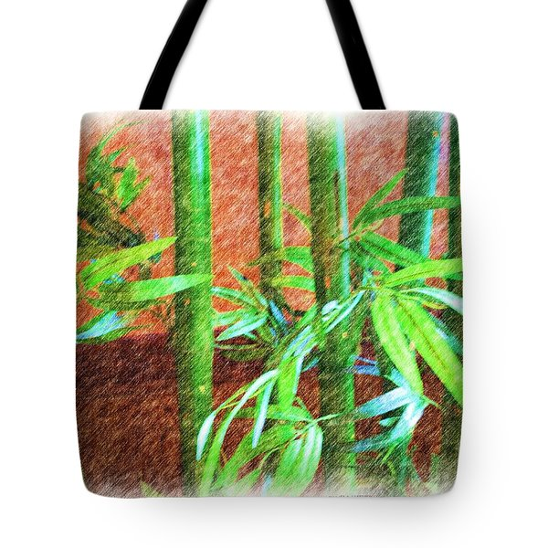 Tote Bag featuring the photograph Bamboo #1 by Luther Fine Art