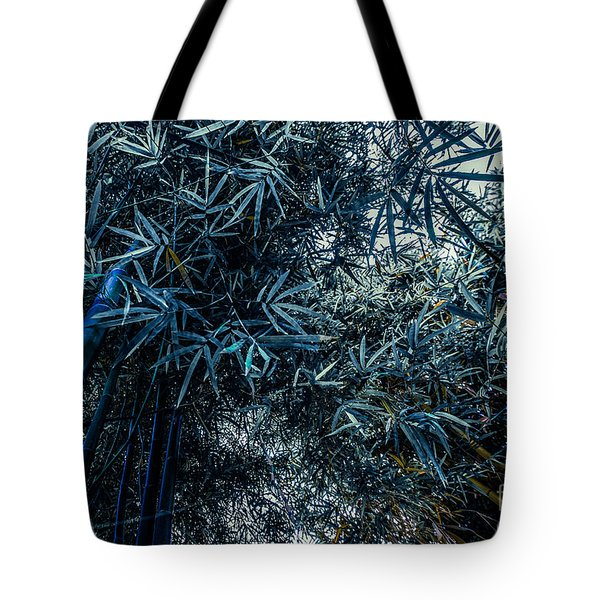 Bamboo - Blue Tote Bag by Hannes Cmarits