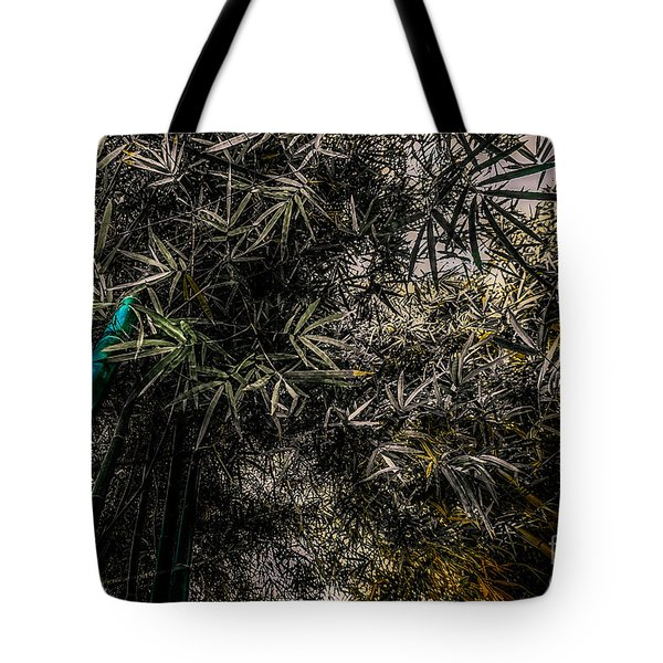bamboo III - blue - yellow Tote Bag by Hannes Cmarits