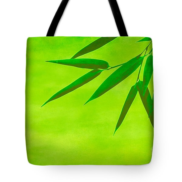Bamboo Leaves Tote Bag by Hannes Cmarits