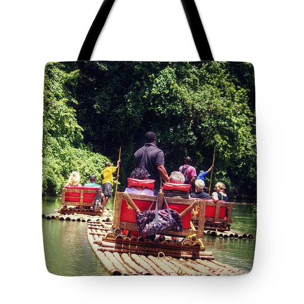 Tote Bag featuring the photograph Bamboo River Rafting by Melanie Lankford Photography