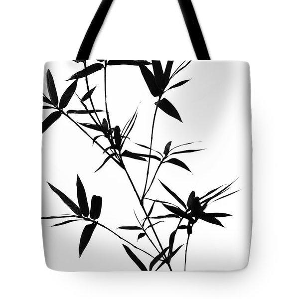 Bamboo Shadows Tote Bag by Jenny Rainbow