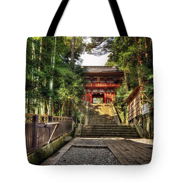 Tote Bag featuring the photograph Bamboo Temple by John Swartz