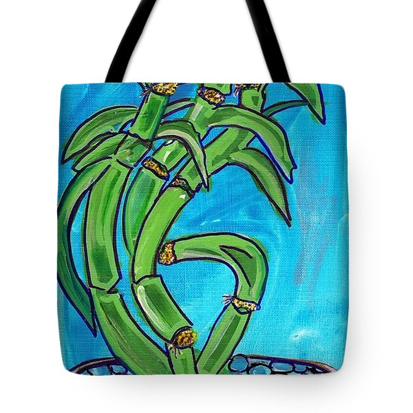 Bamboo Twist Tote Bag