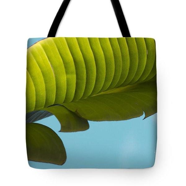 Banana Leaf And Maui Sky Tote Bag by Sharon Mau