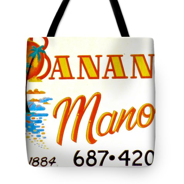 Banana Manor Tote Bag