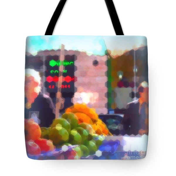 Tote Bag featuring the photograph Banana - Street Vendors Of New York City by Miriam Danar