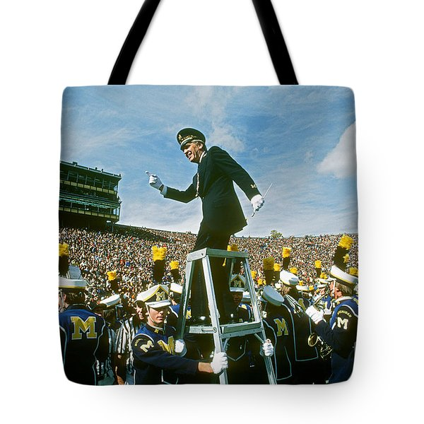 Band Director Tote Bag by James L. Amos