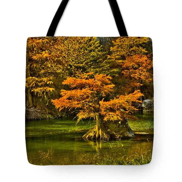 Bandera Falls On Medina River Tote Bag