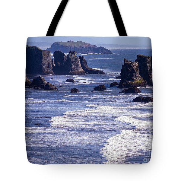 Bandon Beach Seastacks 6 Tote Bag by Tracy Knauer
