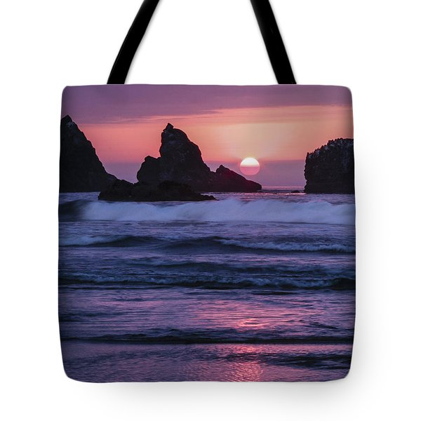 Bandon Beach Sunset Tote Bag