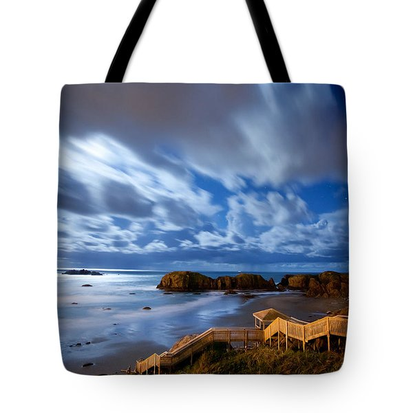 Bandon Nightlife Tote Bag by Darren  White