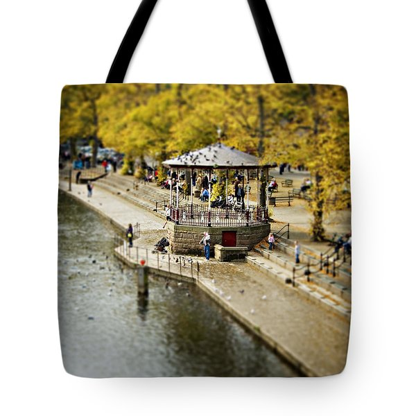 Tote Bag featuring the photograph Bandstand In Chester by Meirion Matthias