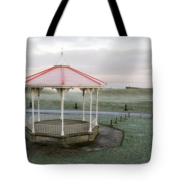 Bandstand In Winter Tote Bag
