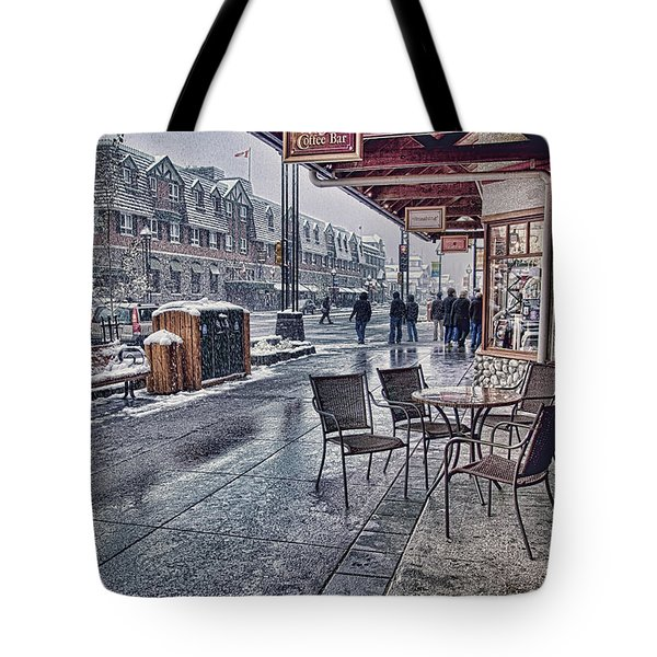 Banff Avenue Tote Bag by Diane Dugas