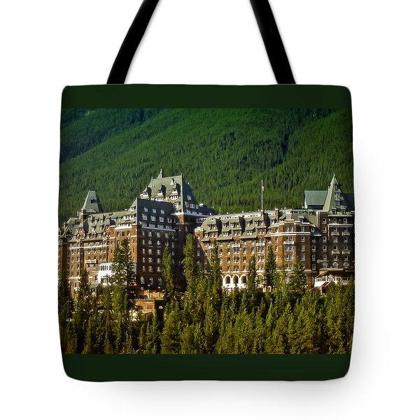 Banff Springs Hotel Tote Bag