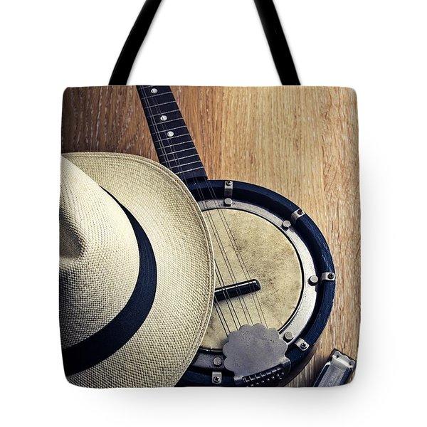 Banjo And Harp Tote Bag