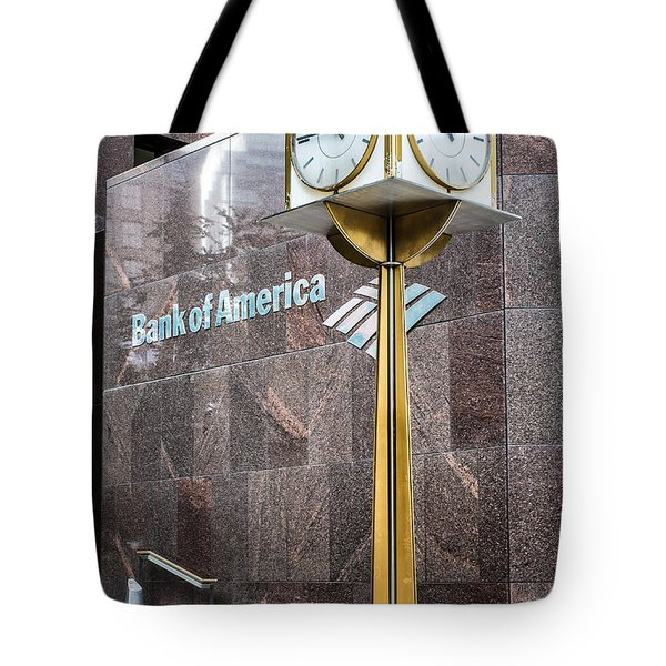 Bank Of American Building In Boston Tote Bag by Boris Mordukhayev