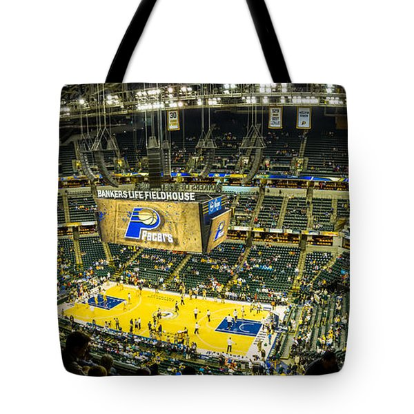 Bankers Life Fieldhouse - Home Of The Indiana Pacers Tote Bag