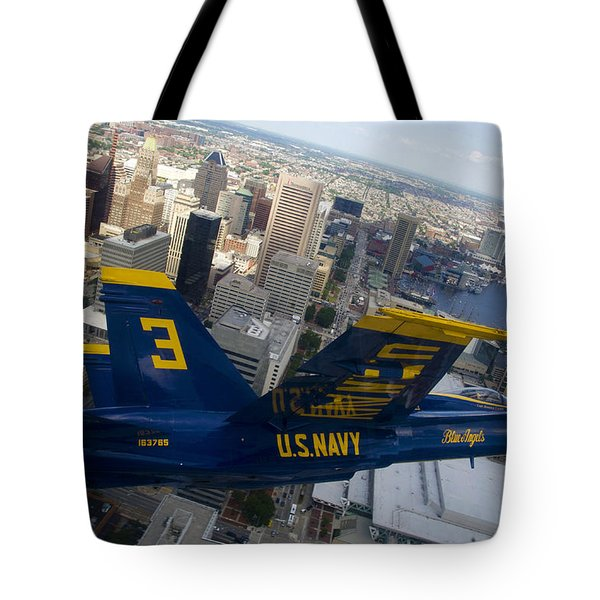 Banking Above Baltimore Tote Bag