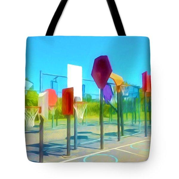 Bankshot Basketball 1 Tote Bag by Lanjee Chee