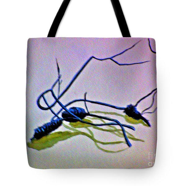 Tote Bag featuring the painting Banksia Abstraction by Leanne Seymour