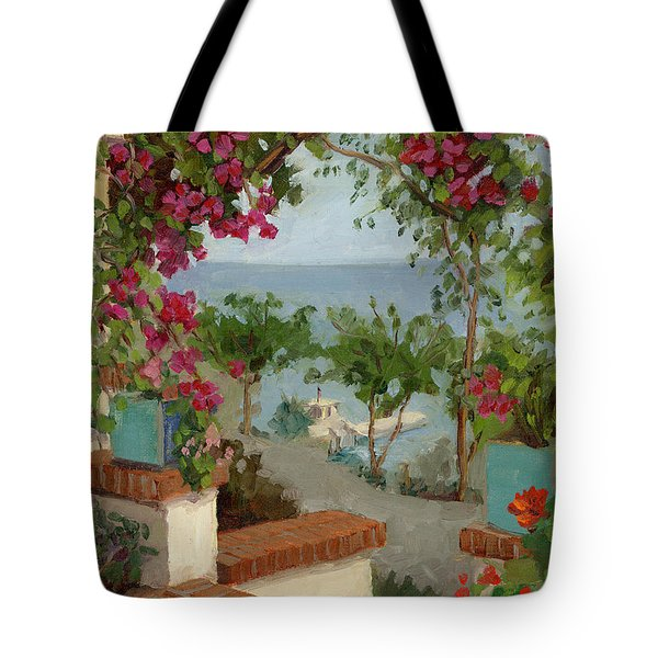 Banning House Bougainvillea Tote Bag by Alice Leggett