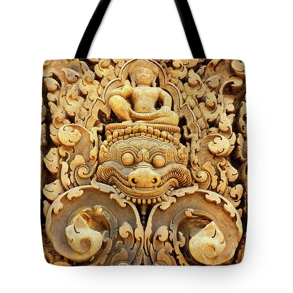Banteay Srei Carving 01 Tote Bag