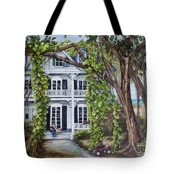 Banyan Beach House Tote Bag