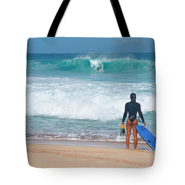 Tote Bag featuring the photograph Banzai Pipeline Aqua Dream by Aloha Art