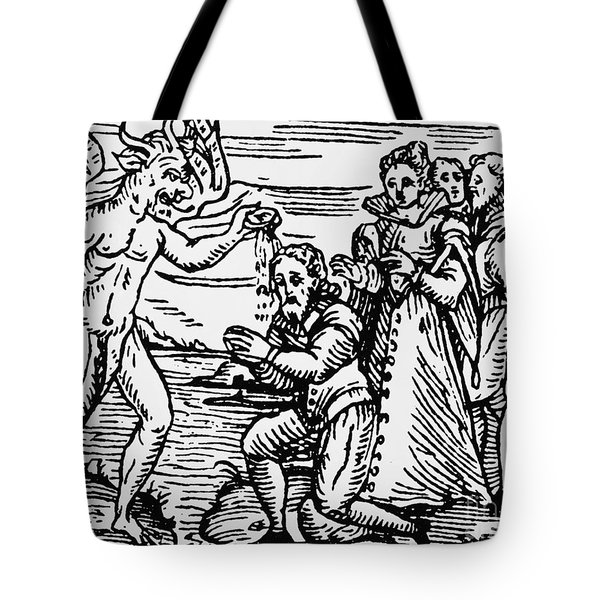 Baptism By The Devil Tote Bag