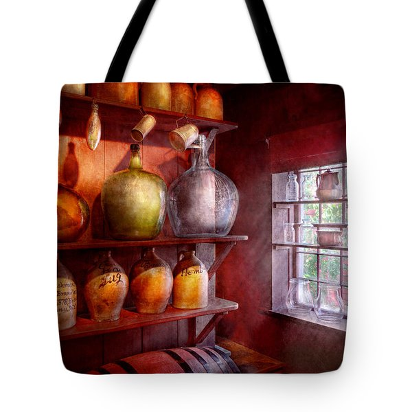 Bar - Bottles - Check Out These Big Jugs  Tote Bag by Mike Savad