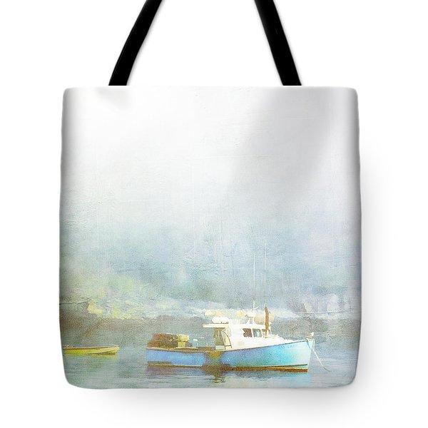 Bar Harbor Maine Foggy Morning Tote Bag