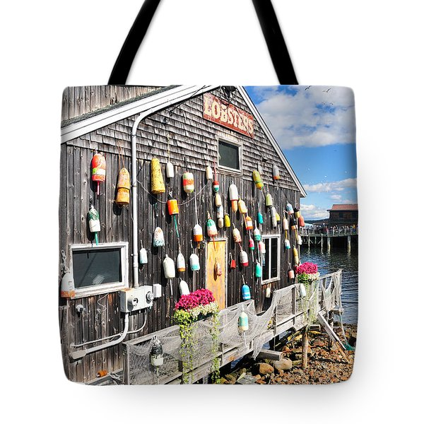 Bar Harbor Restaurant Tote Bag by Betty LaRue