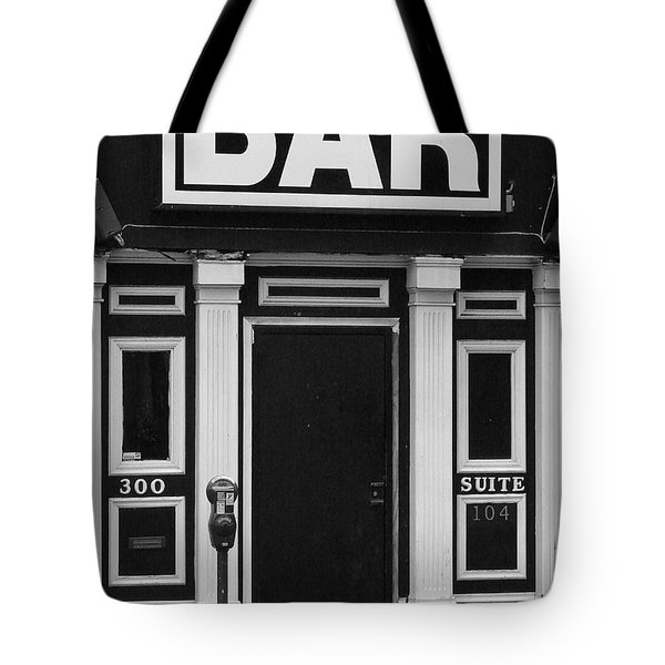 Tote Bag featuring the photograph Bar by Rodney Lee Williams