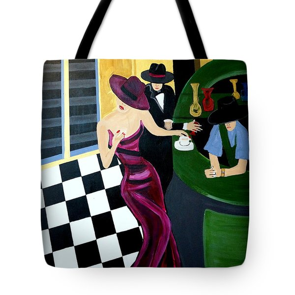 Bar Scene  Lets Have A Drink Tote Bag