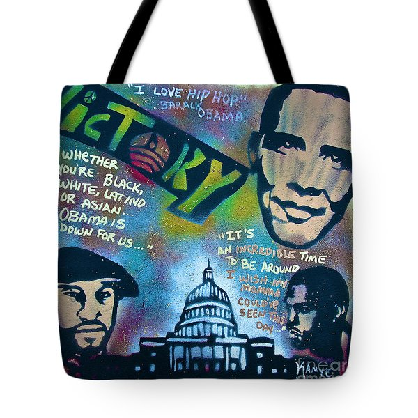 Barack And Common And Kanye Tote Bag by Tony B Conscious